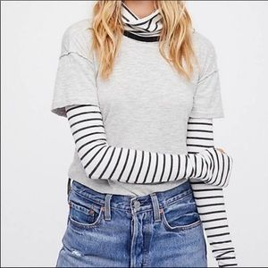 Free People Piper Twofer Layered Turtleneck Top